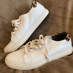 Kenneth Cole White Leather Tennis Shoes